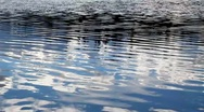 Water with cloud reflections Stock Footage