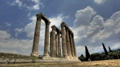 Temple of Olympian Zeus Stock Footage