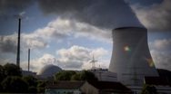 Stock Video Footage of Nuclear Power Station Isar