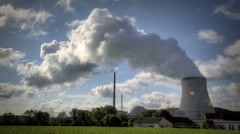 Nuclear Power Station Isar Stock Footage