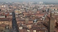 HD Aerial View of Bologna, Italy, Bologna Cathedral, Cattedrale di San Pietro HD Footage