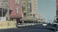 "Stock Video Footage of ""Downtown"" Las Vegas Nevada Circa 1960 (Vintage Film 8mm Home Movie) 253"