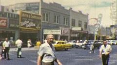 People Downtown Las Vegas Nevada Sin City USA 1960s Vintage Film Home Movie 257 - stock footage