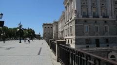 Madrid royal palace plaza 1 Stock Footage