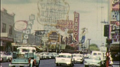 DOWNTOWN Sin City HQ LAS VEGAS Reno Nevada 1960s Vintage Film Home Movie 285 Stock Footage