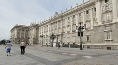 Madrid royal palace 4 Stock Footage