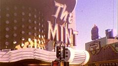 The Mint Casino Las Vegas Sin City Gambling 1970s Vintage Film Home Movie 264 Stock Footage