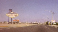 Stock Video Footage of WELCOME TO LAS VEGAS Famous Sign Landmark 1960s Vintage Film Home Movie 266