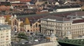HD Aerial View of Budapest, Danube River, Liberty Bridge, Vasarcsarnok Market Footage