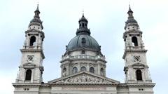 Street View of Budapest, St. Stephen's Basilica, Szent Istvan Bazilika Stock Footage