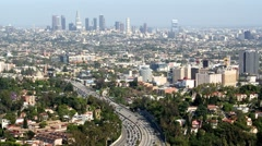 Downtown Los Angeles Traffic - Time Lapse Stock Footage