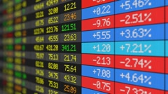 Stock Market board - stock footage