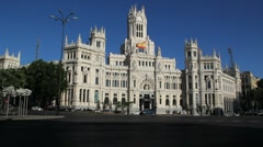 Madrid Palace of Communications - stock footage