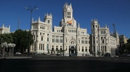 Stock Video Footage of Madrid Palace of Communications