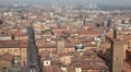 HD Aerial View of Bologna, Italy, Bologna Cathedral, Cattedrale di San Pietro Footage
