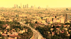 Downtown Los Angeles Traffic - Time Lapse - stock footage