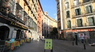 Madrid old town scene 1 Stock Footage
