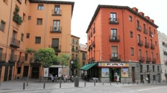 Madrid old town corner.MOV Subclip Stock Footage