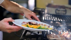 Chef Arranging Plate Food Stock Footage