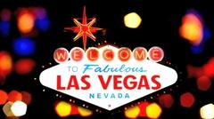 Lights of Las Vegas Stock Footage