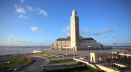 Stock Video Footage of Hassan II Mosque, Casablanca, Morocco, North Africa