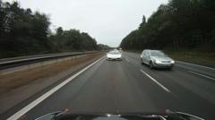 Bugatti Veyron overtake Stock Footage