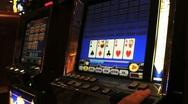 Gambling on video poker machines Stock Footage
