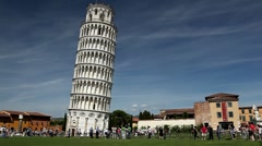 Leaning Tower in Pisa, Tuscany, Central Italy, Tourists Attraction, UNESCO Stock Footage
