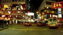 HONG KONG NIGHT DRIVING 3 - stock footage