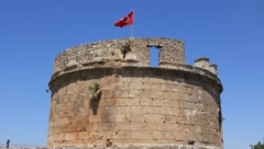 Hidirlik tower in Antalya, Turkey Stock Footage