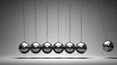 Balancing balls Newton's cradle Stock Footage
