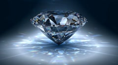 Brilliant diamond rotating Stock Footage