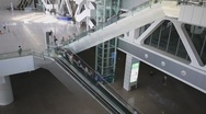 Stock Video Footage of Escalators in railway station