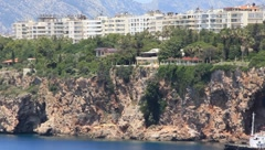 Seacoast, Antalya, Turkey Stock Footage