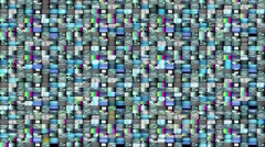 Big Bank of media tv screens videowall 32x32 LOOP - stock footage