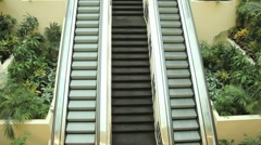Two way escalator Stock Footage