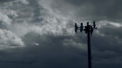 Storm over antenna timelapse - stock footage