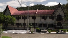 Hotel in german stile, Blumenau, Brazil Stock Footage