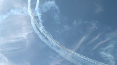 Aerobatic Team Draws A Pattern In The Sky 4 Stock Footage