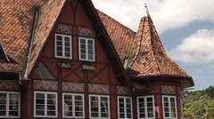 German still house in Blumenau city, Brazil Stock Footage