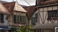 Hotel in german stile in small square in Blumenau, Brazil Stock Footage