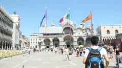 San Marco Plaza, Venice Stock Footage