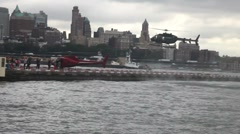 Heliport at South Street New York Stock Footage