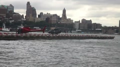 Heliport downtown New York Stock Footage