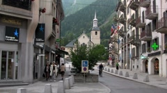 A town in the Alps. Stock Footage