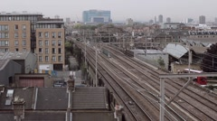 Train Coming - London Urban View Stock Footage