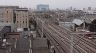 Stock Video Footage of Train Coming - London Urban View