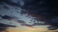 Stock Video Footage of Sunset Dark Clouds Time Lapse