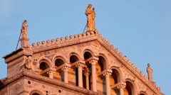 Sunset Light on Cathedral in Pisa, Tuscany, Italy, Tourists Attraction, UNESCO - stock footage
