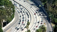 California Freeway Traffic - Time Lapse Stock Footage